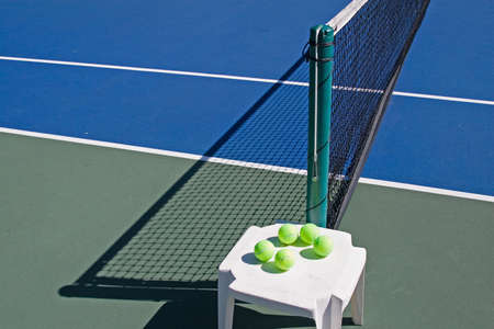 Resort tennis club and tennis courts with balls Stock Photo - 2691031