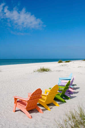 adirondack chair: Beach and ocean scenics for vacations and summer getaways