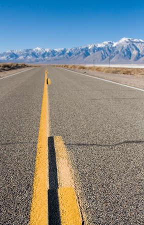 Close up of a desert highway lane marker Reklamní fotografie