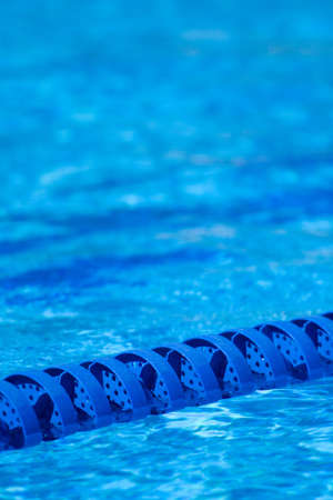 backstroke: A lane marker for a swimming pool swim race