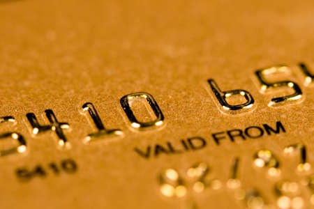 Credit Card security (closed account number) Banque d'images