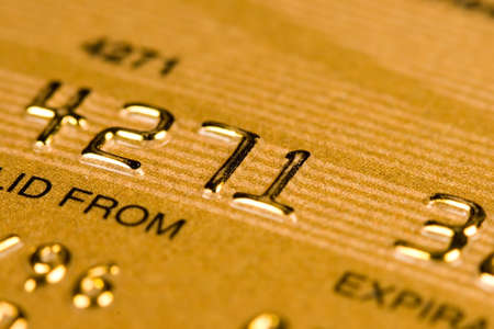 id theft: Credit Card security (closed account number) Stock Photo