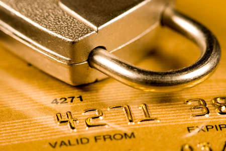 Credit Card security (closed account number) Stock Photo