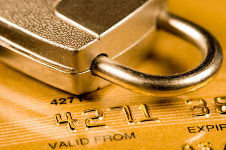 Credit Card security (closed account number) Stock Photo - 3578380