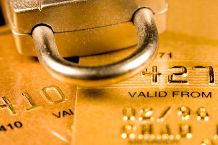 Close up of a credit or debit card for security background Stock Photo - 3578348