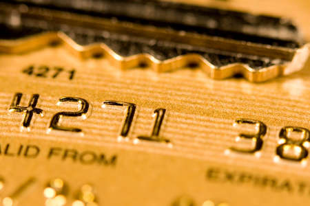 Close up of a credit or debit card for security background Stock Photo - 3578330