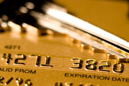 Close up of a credit or debit card for security background Stock Photo - 3578326