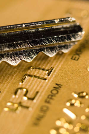 Close up of a credit or debit card for security background Stock Photo - 3578342