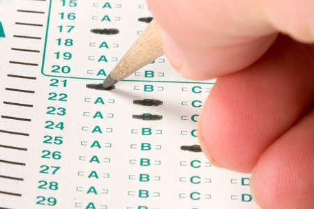 Normalizada de concurso o prueba de puntuación de hoja con respuestas de opción múltiple  Foto de archivo - 3578333