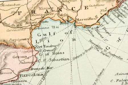 oud document: Vintage (1907 auteursrecht verlopen) kaart van landen en handelsroutes