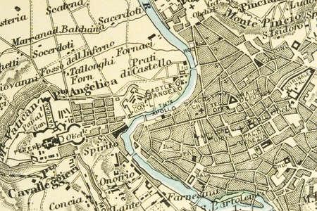 roma antigua: Vintage (1907 expir� el derecho de autor) mapa que muestra los pa�ses y las rutas comerciales