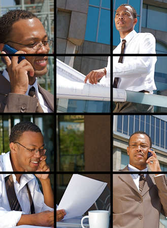 Collection and Collage of modern day business photo