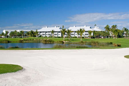 Retirement community condos on a resort golf course
