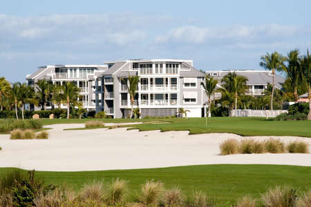 Retirement community condos on a resort golf course photo