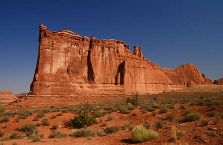 arches national park: Natural red rocks at Arches National Park in Utah USA