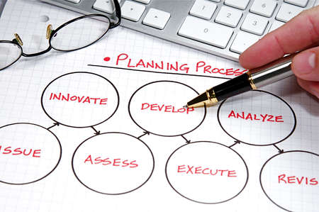 Business strategy organizational charts and graphs Stock Photo - 5574632