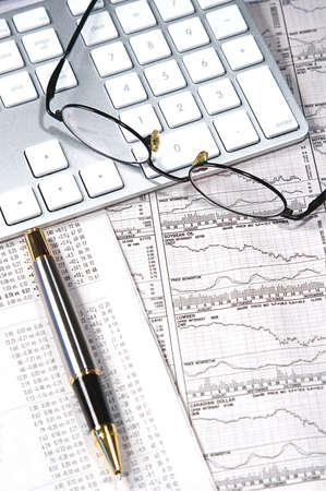 capitalist: Business finance graphs of a working capitalist