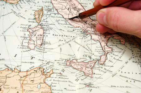 ヴィンテージ (1907 著作権の期限が切れて) ヨーロッパとアジアの地図