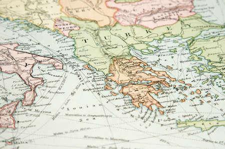 kreta: Vintage (1907, urheberrechtlich gesch�tzt ist abgelaufen) Karte von Europa und Asien Lizenzfreie Bilder