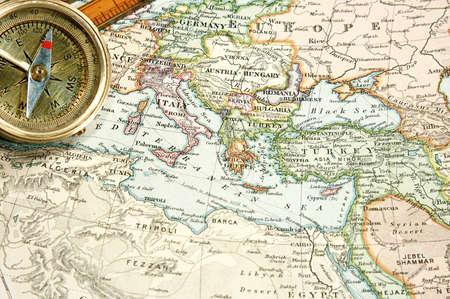 syria: Vintage (1907, die urheberrechtlich gesch�tzt abgelaufen) Karte von Europa und Asien