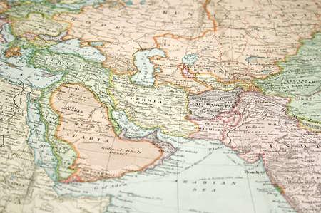 Atlas: Vintage (1907, die urheberrechtlich gesch�tzt abgelaufen) Karte von Europa und Asien