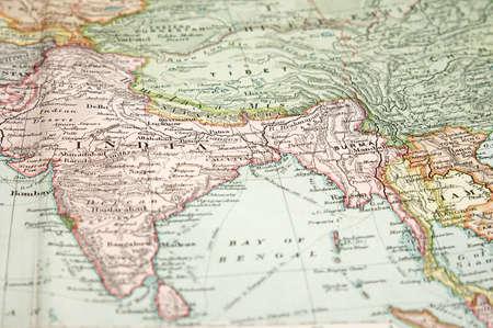 Myanmar: Vintage (1907 copyright expir?) la carte de l'Europe et l'Asie