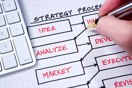 Business strategy organizational charts and graphs Stock Photo - 5588342