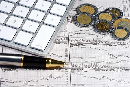 일하는 자본주의의 비즈니스 파이낸셜 그래프 스톡 콘텐츠