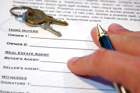 新しい家 (lorem イプサム - 偽のテキスト) の売買契約