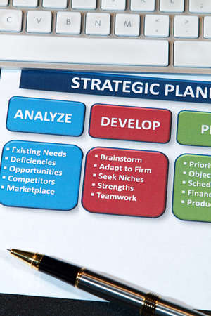 Successful business' use strategic plans to lead into the future Stock Photo - 8748650