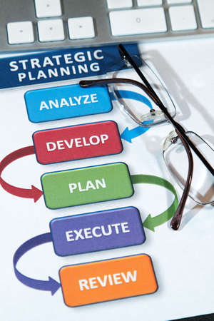 Successful business' use strategic plans to lead into the future Stock Photo - 8748596