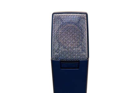 On stage microphone for a recording studio artist