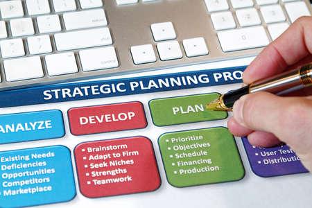 ビジネスの成功を使用して戦略的計画、将来的に 写真素材