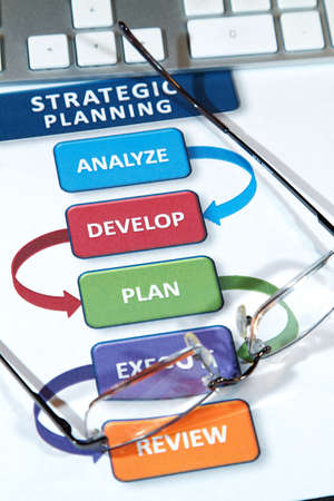 Successful business' use strategic plans to lead into the future Stock Photo - 8939822