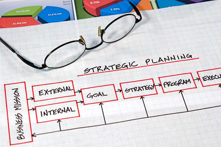 Business strategy organizational charts and graphs photo