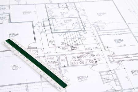 손으로 만든 집 모델 주거 홈 청사진.