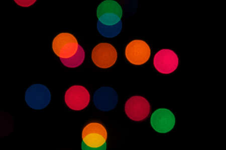 A background of colorful blurred stage lights Stock Photo - 9049479