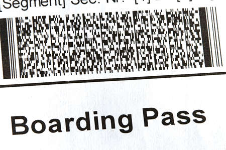 Airline boarding pass with public seal of Homeland Security Stock Photo - 9162245