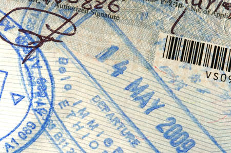 visa approved: Passport page with entry stamp for Ethiopia