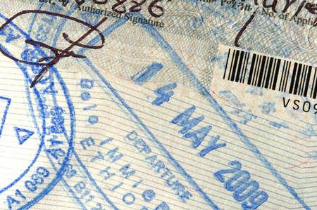 Passport-Seite mit Einreisestempel für Äthiopien