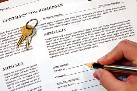 purchases: Contract for the sale of a New Home (lorem ipsum - fake text)