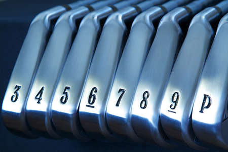 pitching: A brand new set of golf club irons