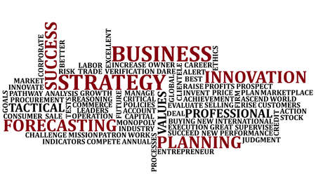 Business Words Collage Stock Photo