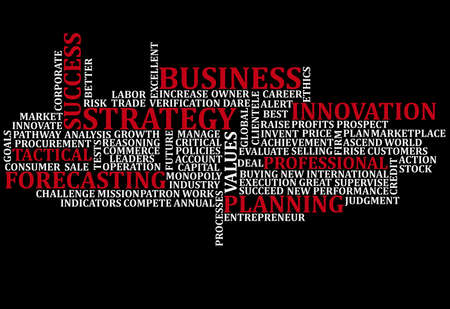 innovation word: Business Words Collage Stock Photo