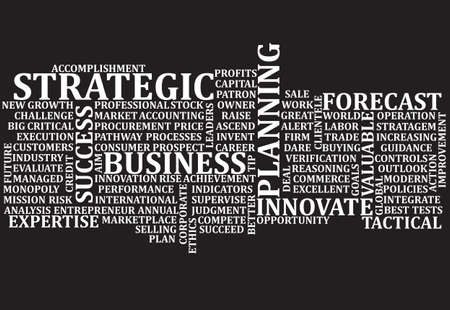 A scramble of business buzz words for a background Stock Illustratie