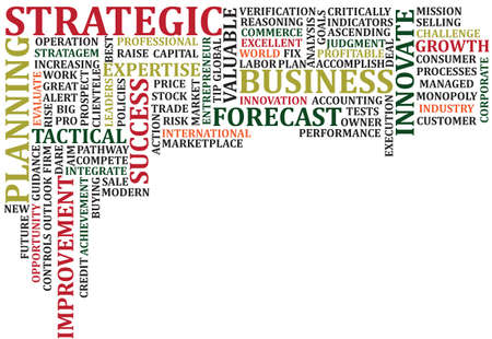 背景のビジネス話題の単語のスクランブル