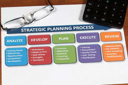 事業計画とプロジェクトの顧客に焦点を当て 写真素材