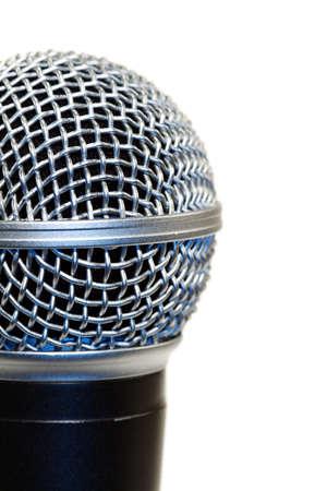 Op het podium microfoon voor een opname studio kunstenaar