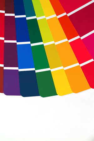 Paint swatches for selecting color for a home improvement project Stock Photo - 10960736