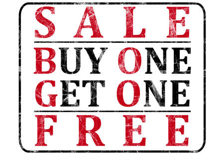bogo: Sale Sign for a Retail Store